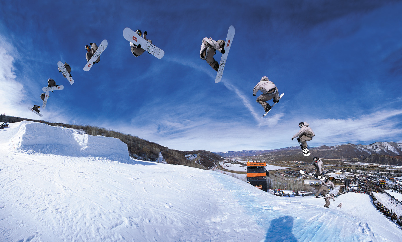 Extreme snowboarding events