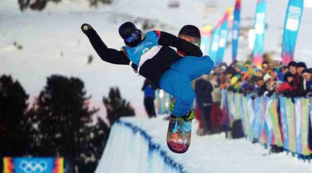 Sochi Halfpipe snowboarding