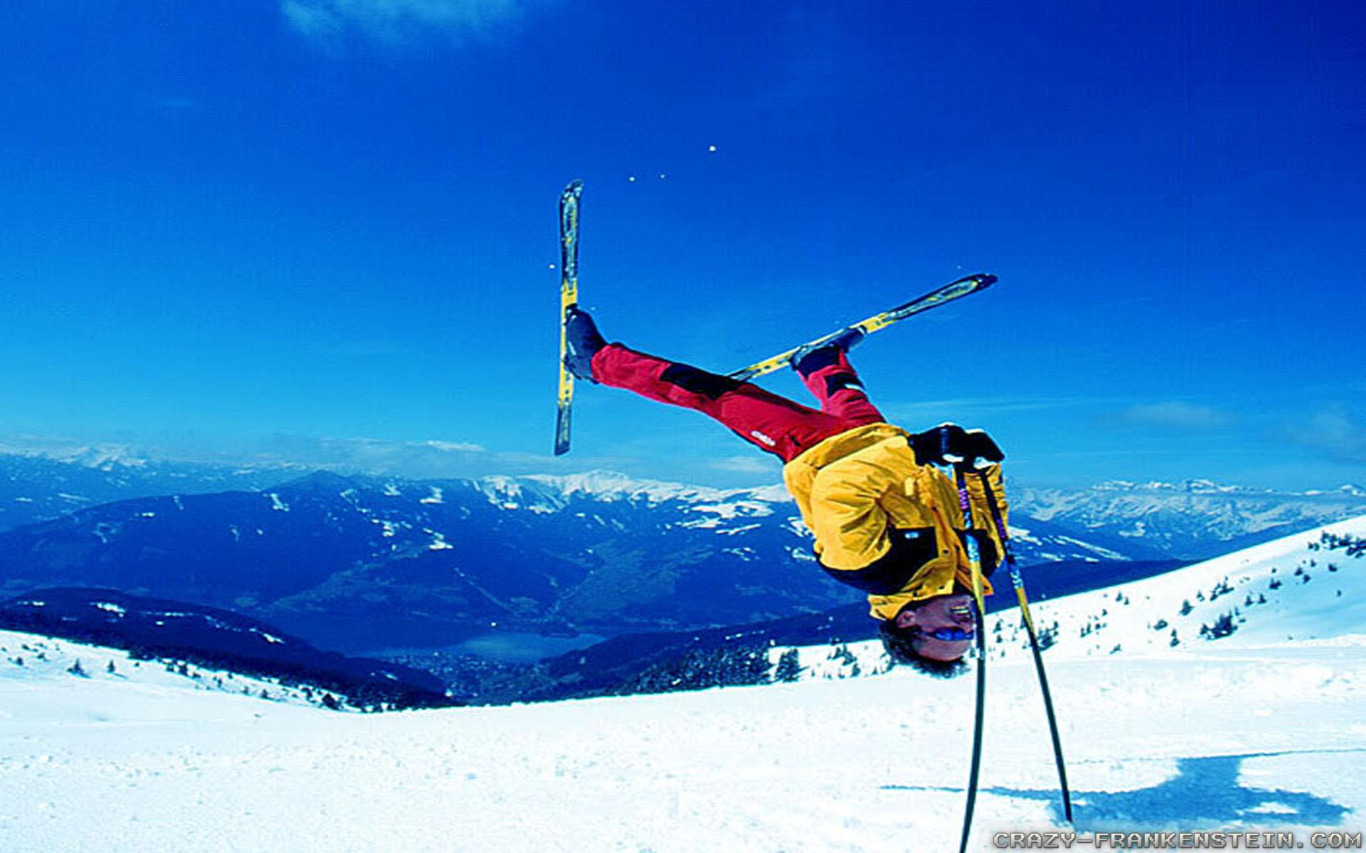 crazy ski freestyle
